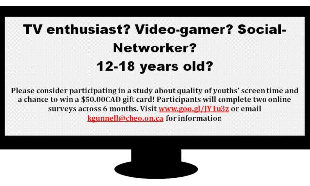 Participants Needed for Online Study about Screen Time