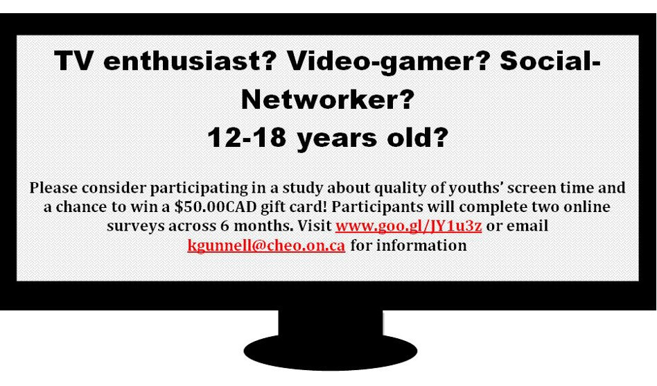 Participants Needed for Online Study about Screen Time | Healthy
