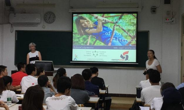 Dr. Pat Longmuir Presents her Research in Beijing
