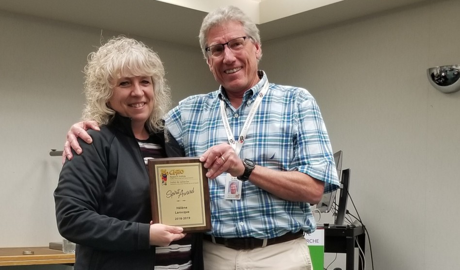 Hélène Larocque Receives the 2019 HALO Spirit Award