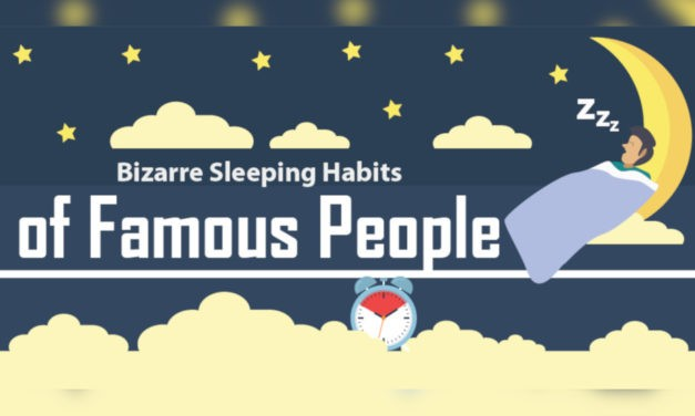 Sleep Infographic: Bizarre Sleeping Habits of Famous People