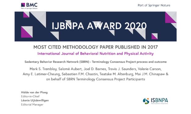 SBRN Terminology Consensus Project Paper WinsIJBNPA Most Cited Methodology Paper Award!