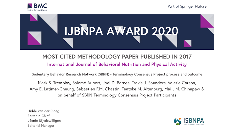 SBRN Terminology Consensus Project Paper Wins IJBNPA Most Cited Methodology Paper Award!