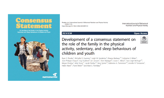 Development of a Consensus Statement on the Role of the Family in the Physical Activity, Sedentary, and Sleep Behaviours of Children and Youth