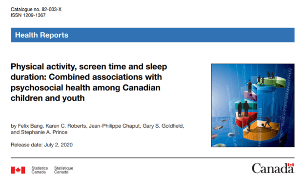 Physical Activity, Screen Time and Sleep Duration: Combined Associations with Psychosocial Health among Canadian Children and Youth
